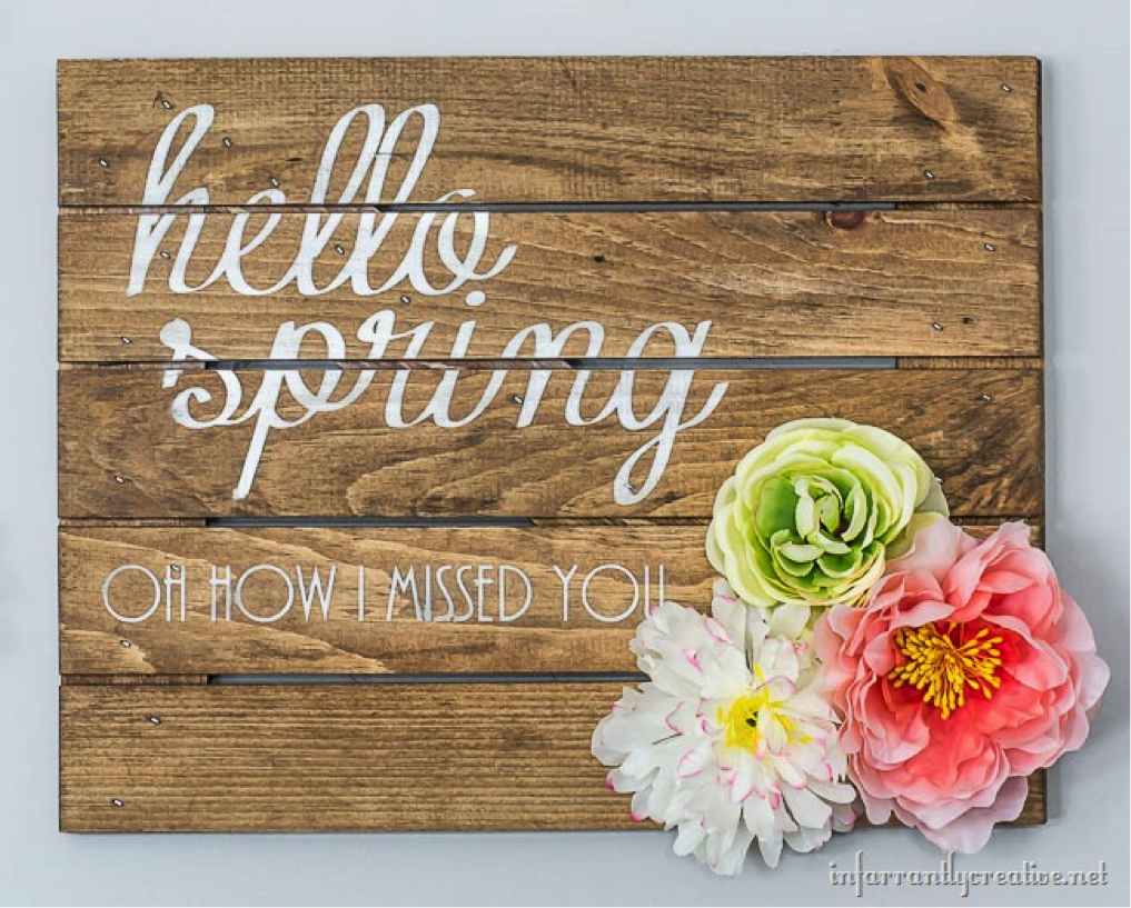 DIY Spring Sign