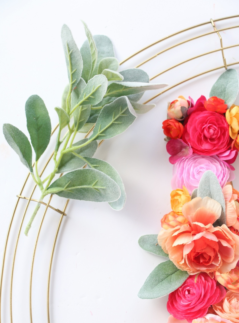Floral Monogram Wreath