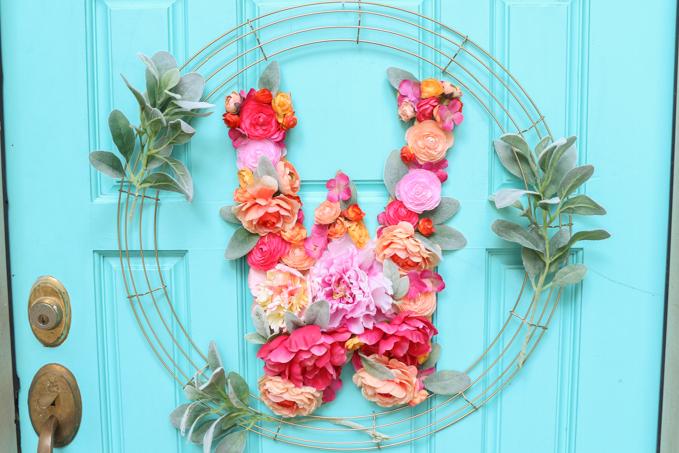 Floral Monogram Wreath