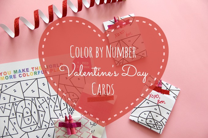 Color by Number Valentine's Day Cards