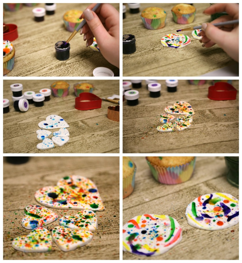 Splatter Painted Cupcakes