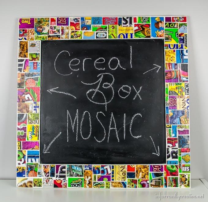 DIY Cereal Box Mosaic