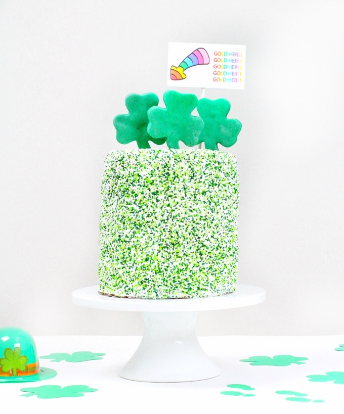 SAINT PATRICKS DAY SURPRISE CAKE