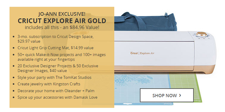 Cricut Explore Air Gold Edition