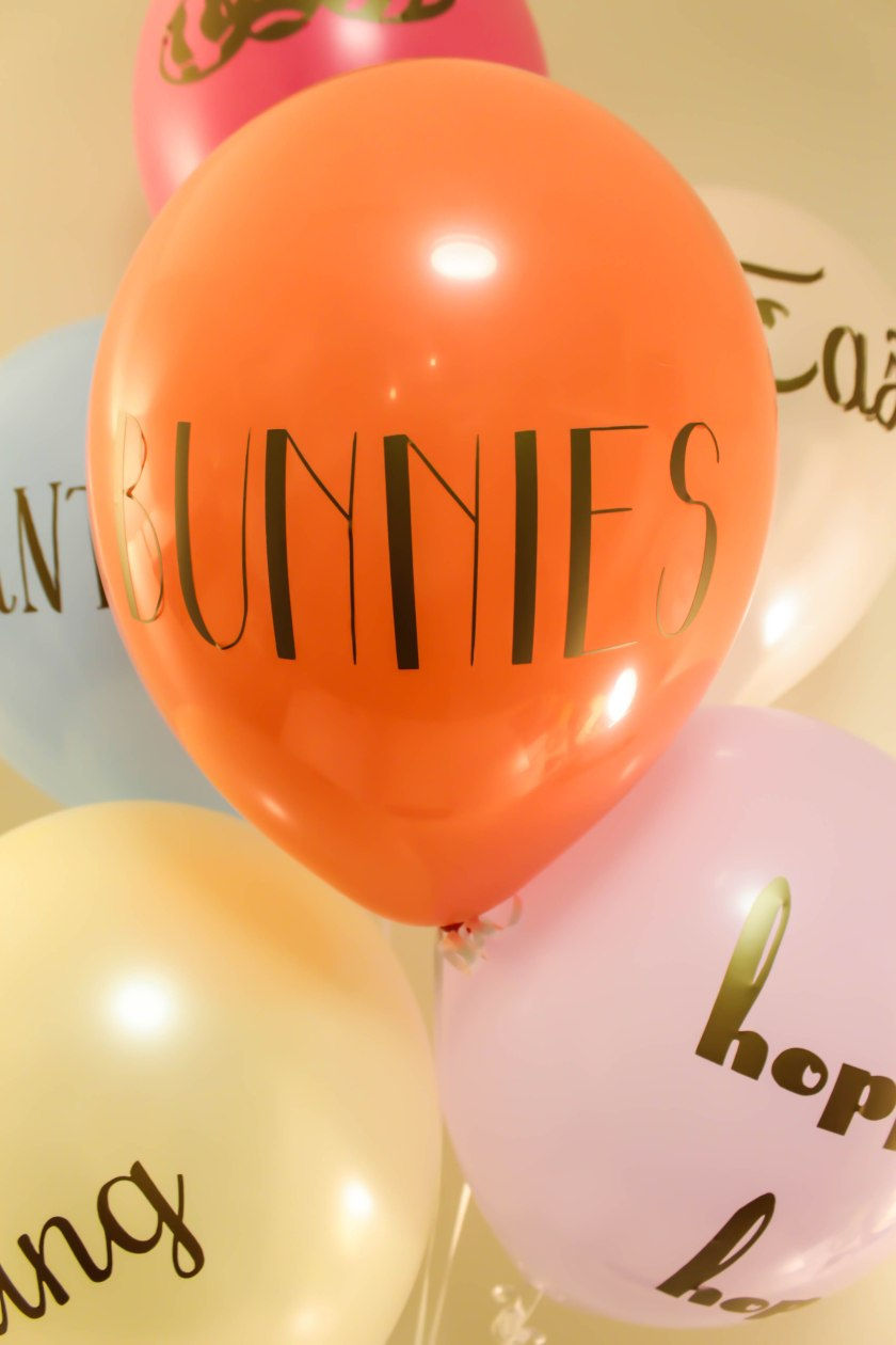 Typography Easter Balloons