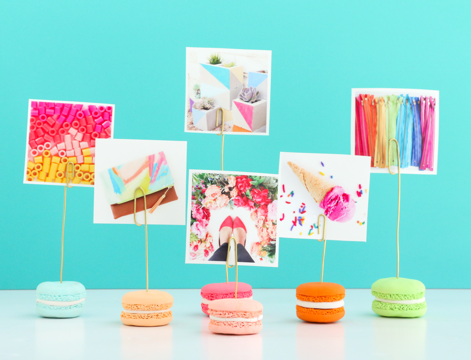 Faux Macaroon Photo Holder