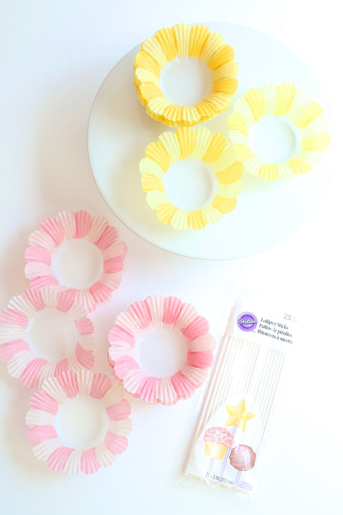 paper flower cupcakes