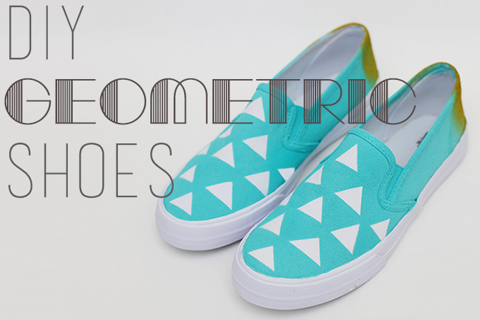 DIY Geometric Shoes with Tulip ColorShot