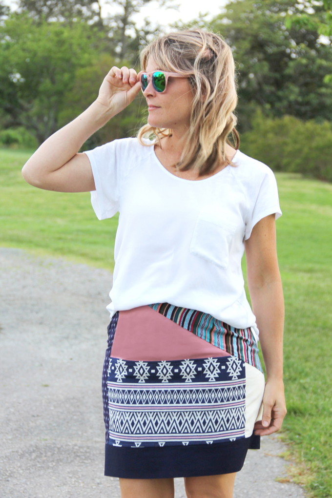 DIY Bohemian Patchwork Skirt