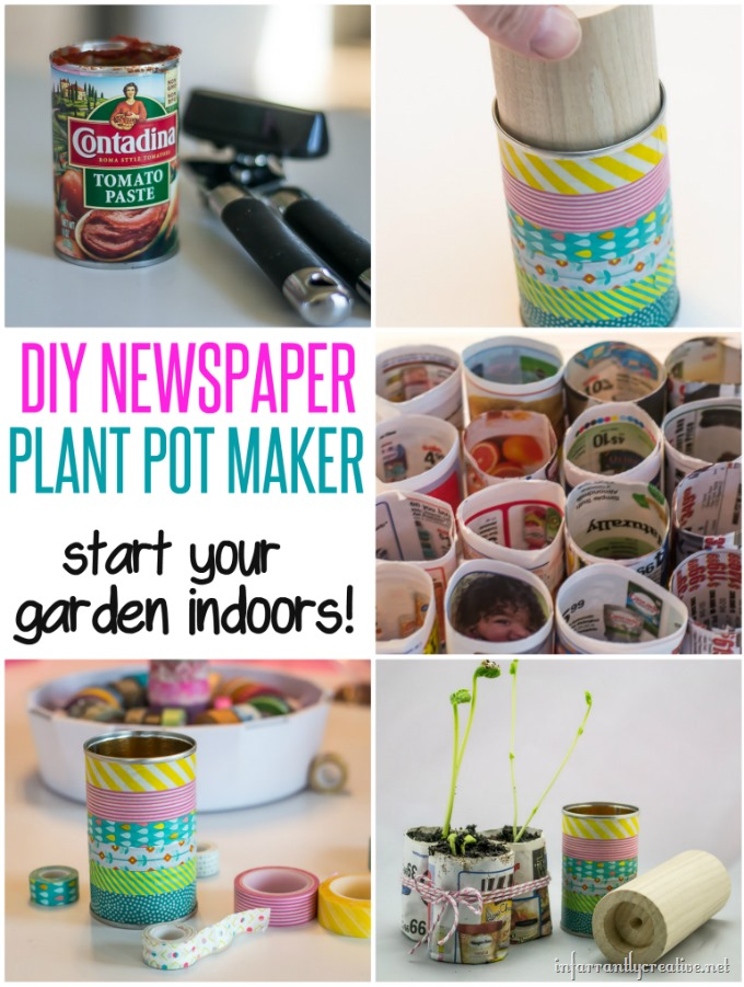 Celebrate Earth Day with a DIY Plant Pot Maker