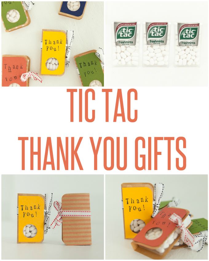Tic Tac Thank You Gifts