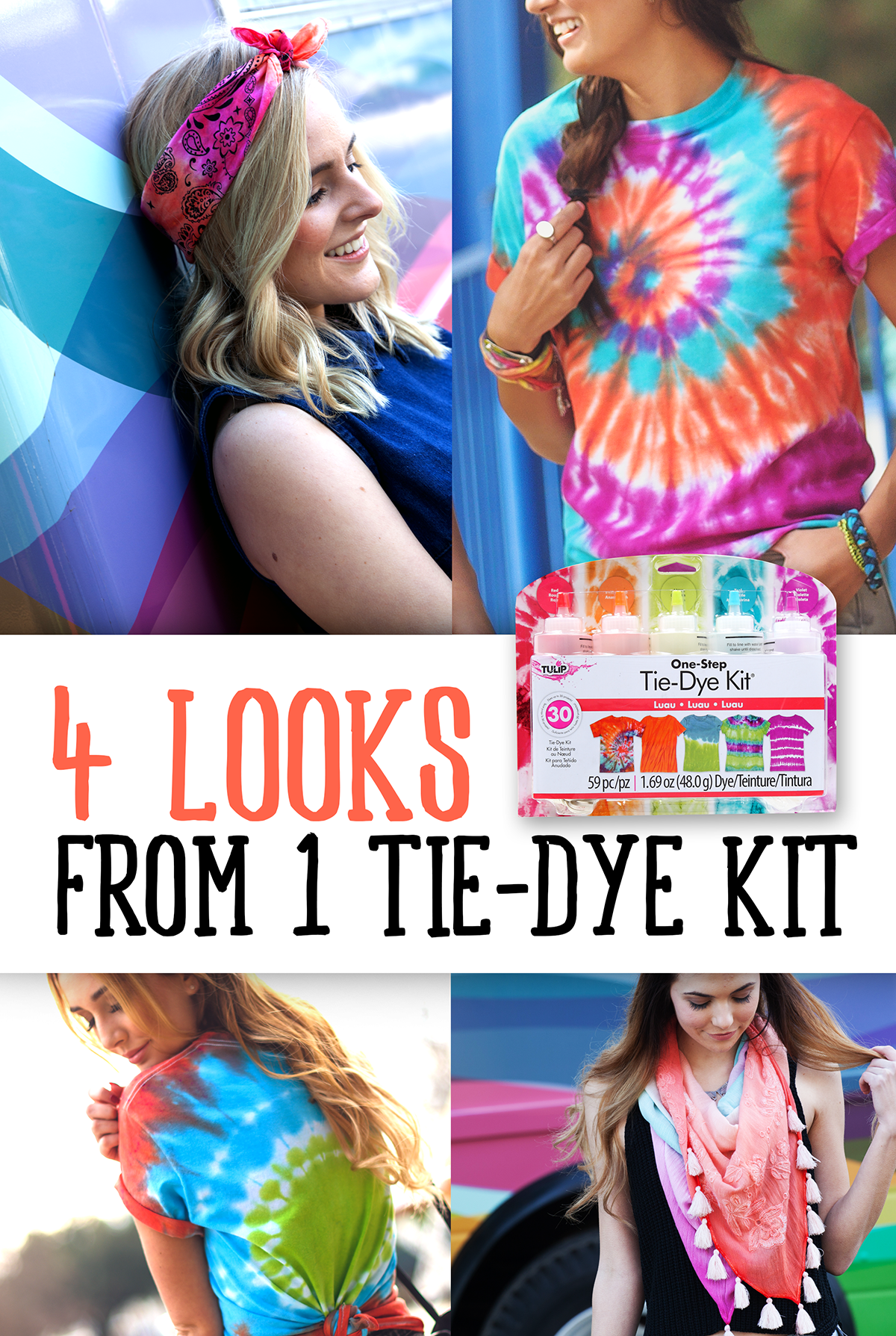 Four Looks from One Tie-Dye Kit