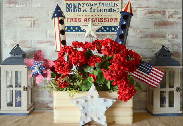 DIY Patriotic Planter Box