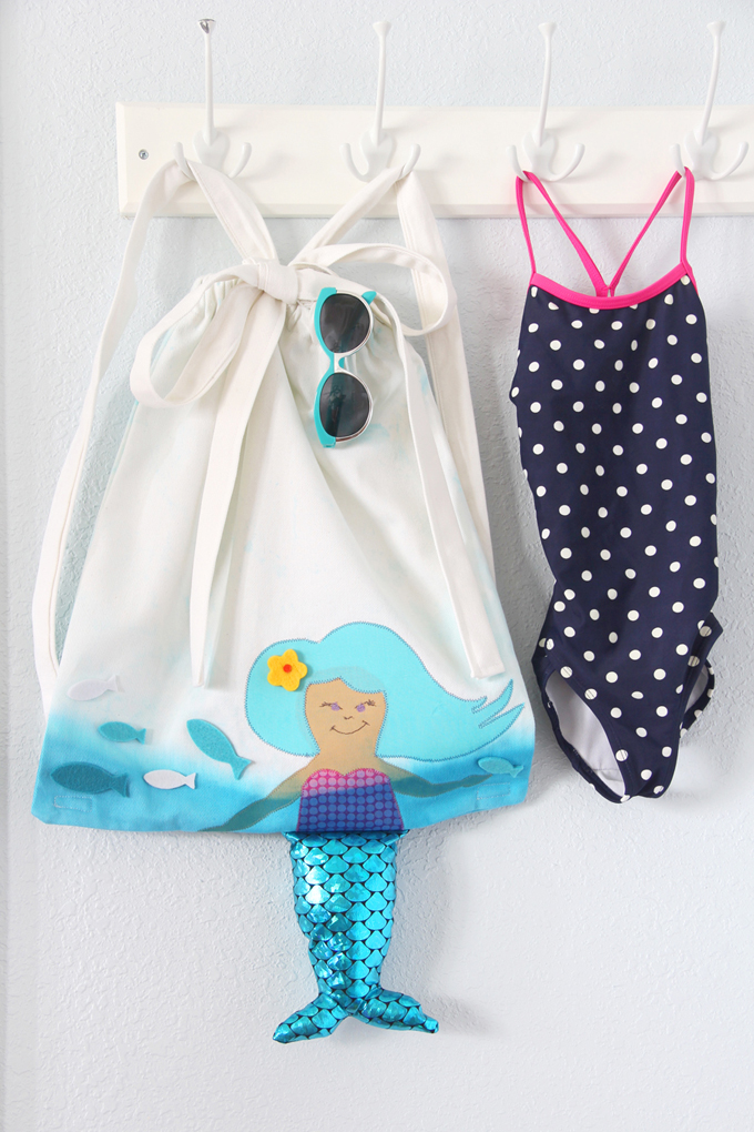 DIY Mermaid Beach Bag