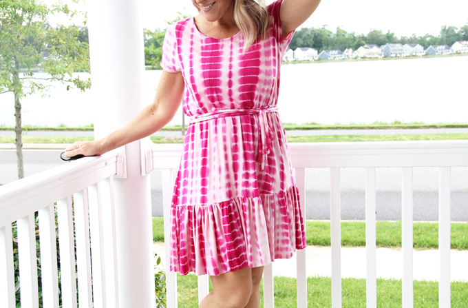 Elastic Waist Ruffle Dress