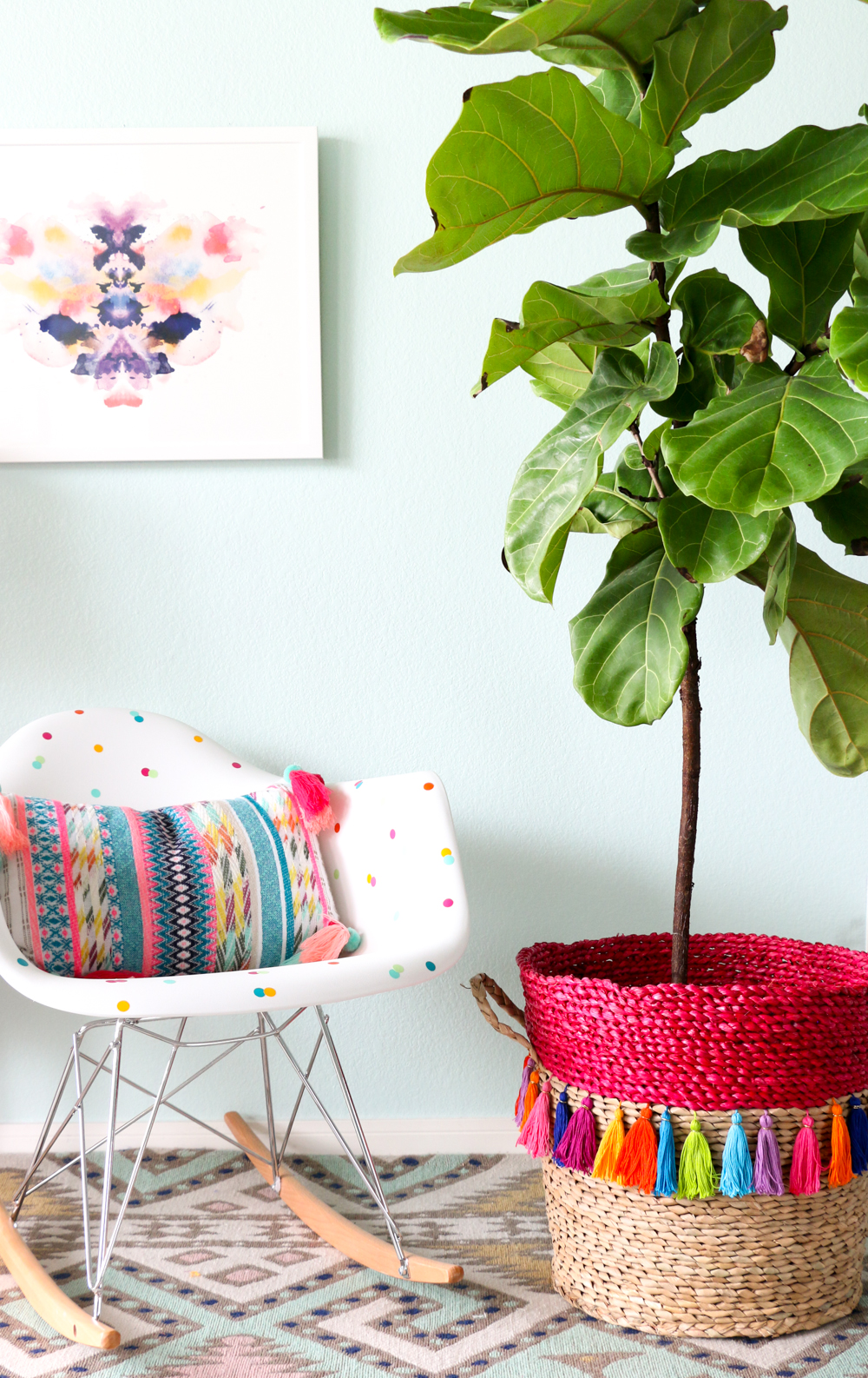 DIY Tassel Basket Planter