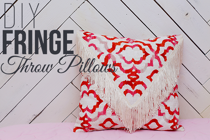 DIY Fringe Pillows