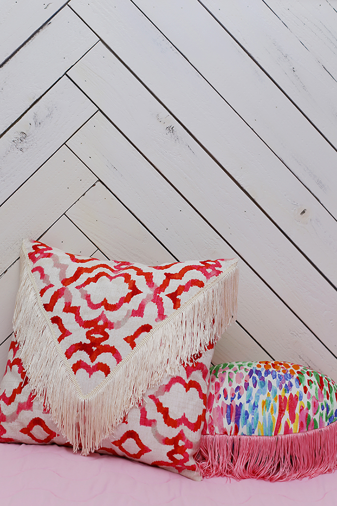 fringe throw pillows