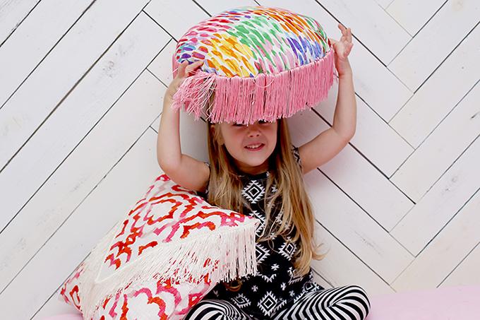 fringe throw pillows