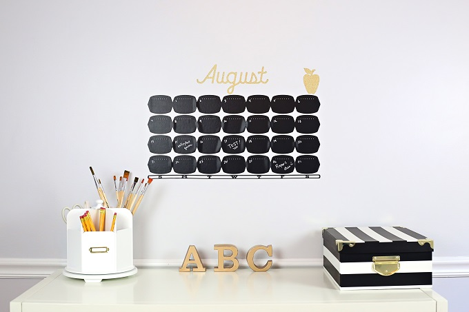 Back to School Chalkboard Calendar