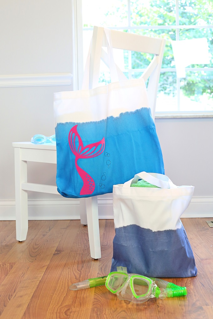 Easy Dip Dye Mermaid Beach Tote