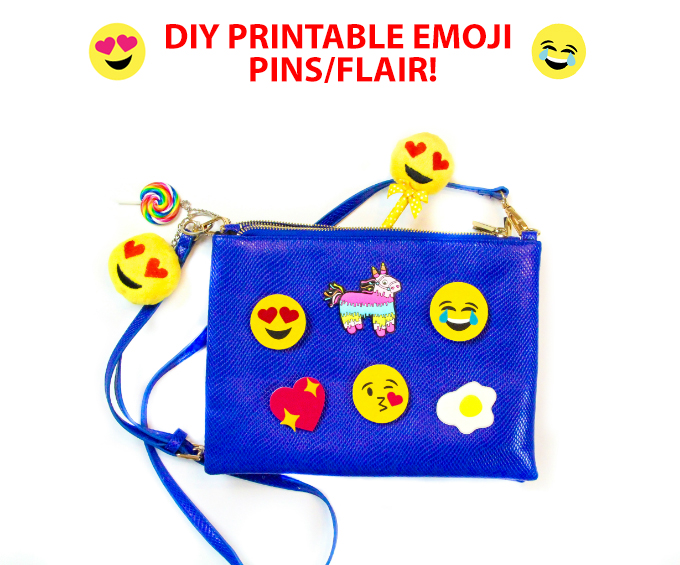 Easy DIY Printable Emoji Pins