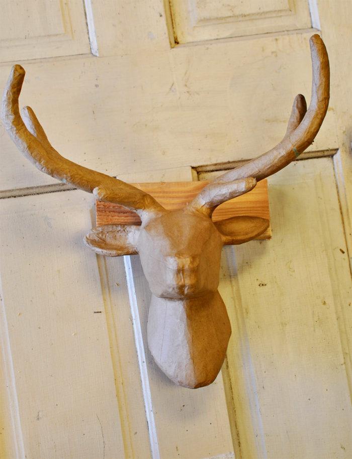 concrete deer head