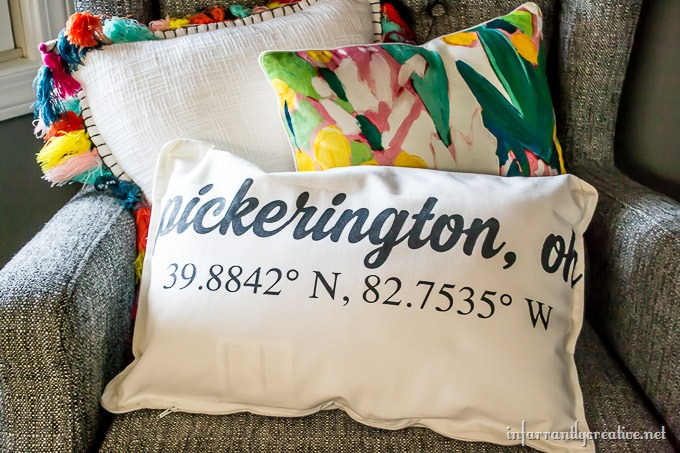 Latitude and Longitude Pillow
