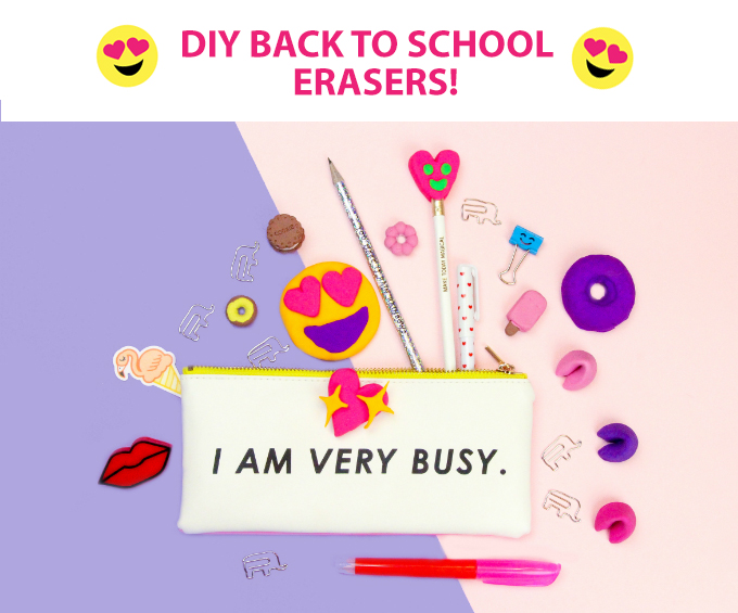DIY Back to School Erasers