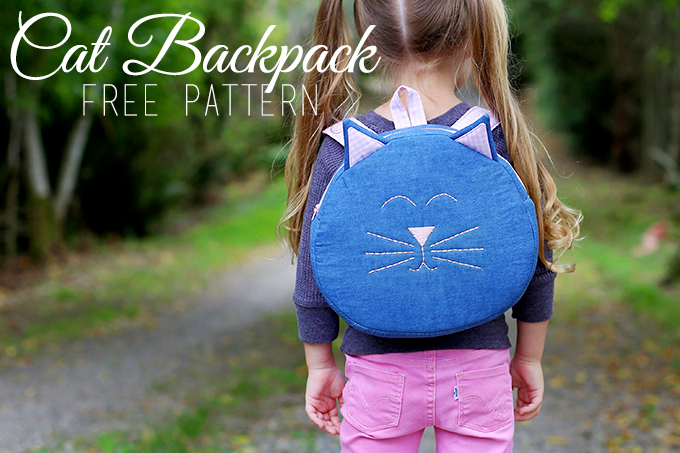 Cat Toddler Backpack Free Pattern