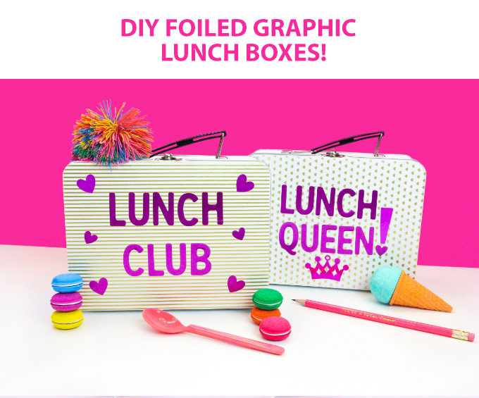 DIY Foiled Graphic Lunch Boxes