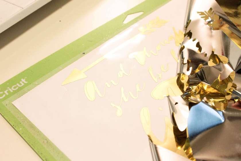 Gold Foil Sign