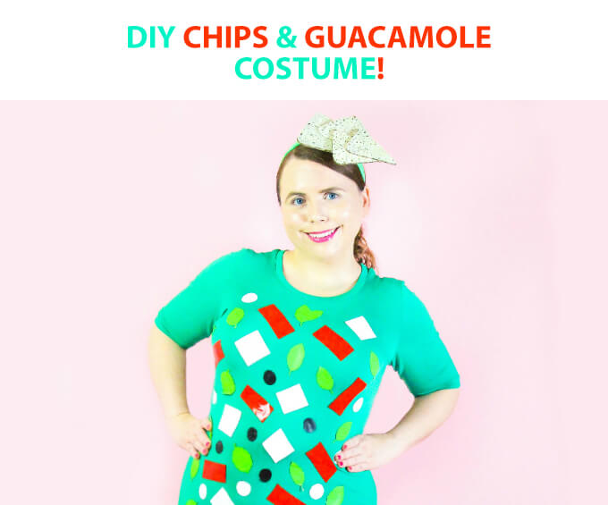 Easy DIY Chips and Guacamole Halloween Costume