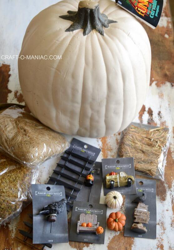 faux pumpkin