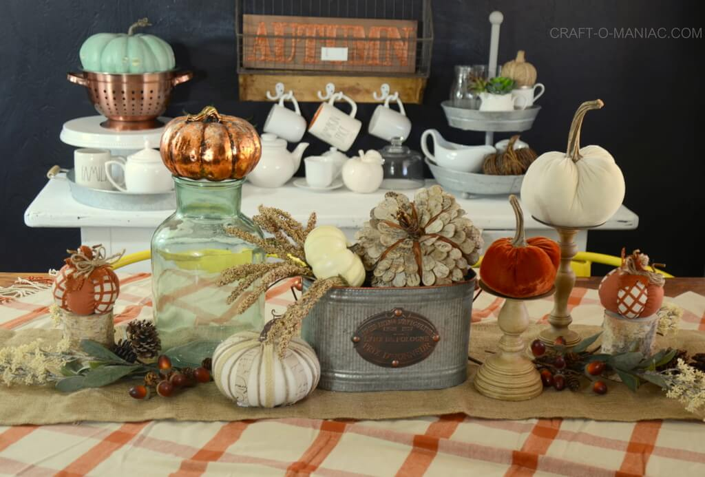 Fall Kitchen Tablescape