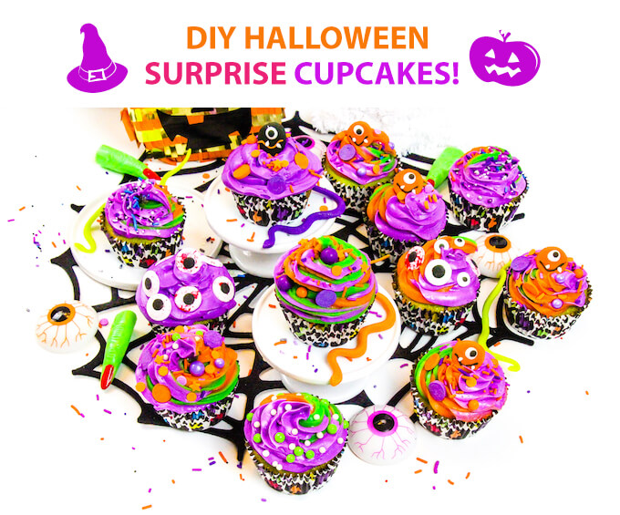 DIY Halloween Surprise Cupcakes