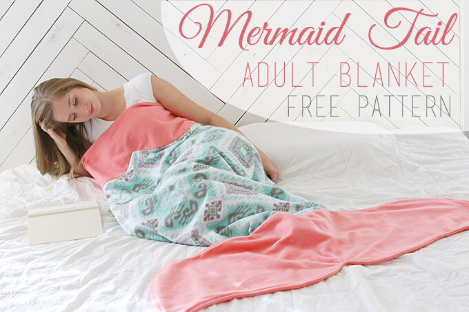DIY Mermaid Tail Blanket with Free Pattern