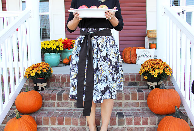 Thanksgiving Skirt with Sash Pattern