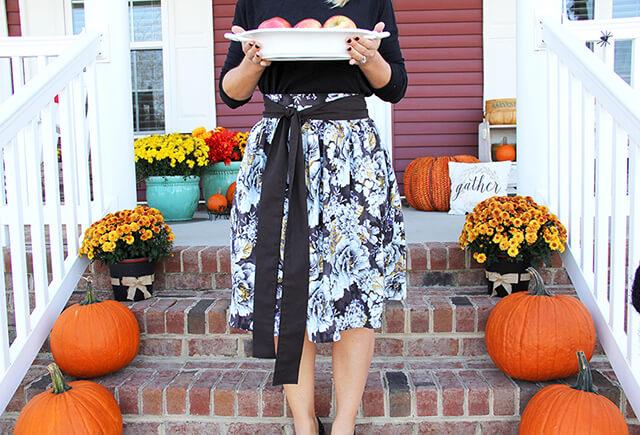 Thanksgiving Skirt with Sash Pattern