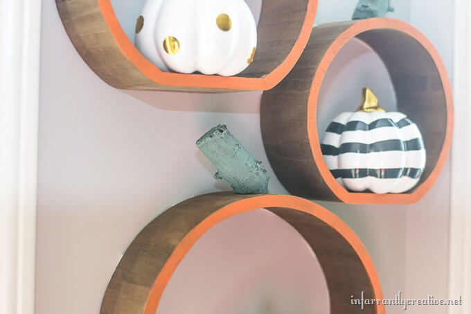 pumpkin shelves