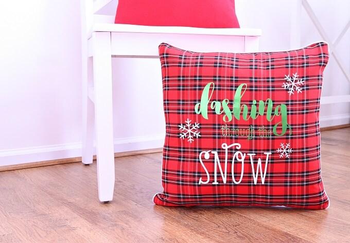 Handmade Christmas Pillows Plus Free Cut File