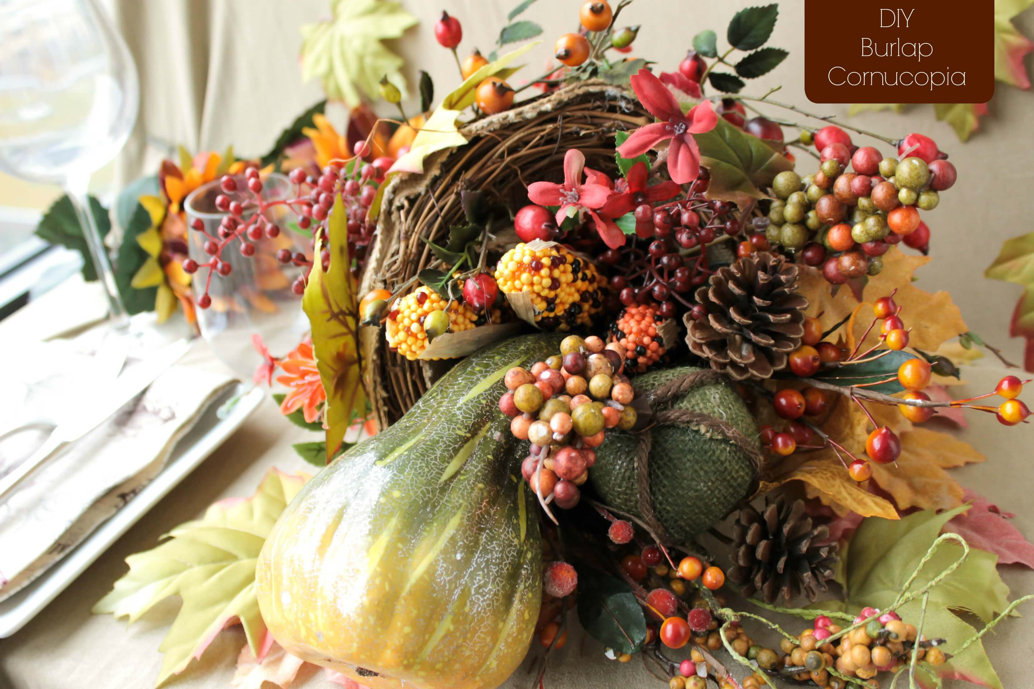 A Few Easy Steps to Make This Lovely Fall Burlap Cornucopia