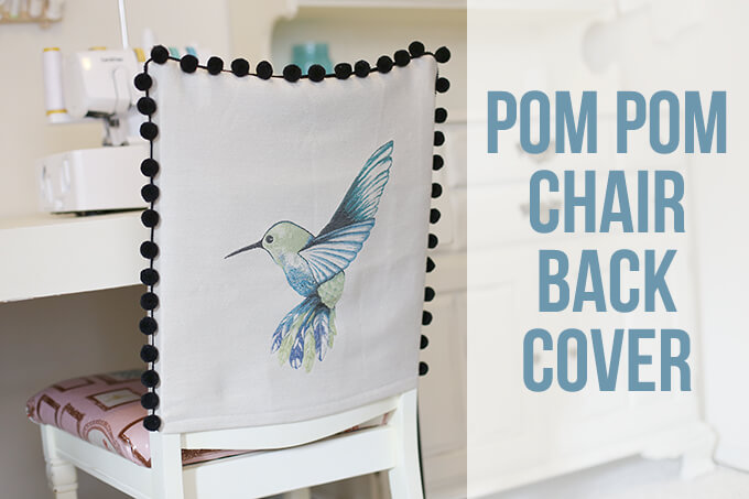 DIY Pom Pom Chair Back Cover