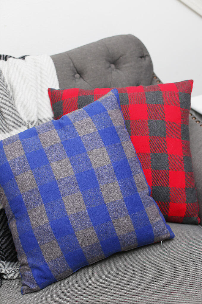 flannel patchwork pillow