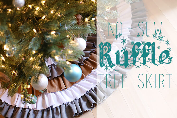 No Sew Ruffled Tree Skirt