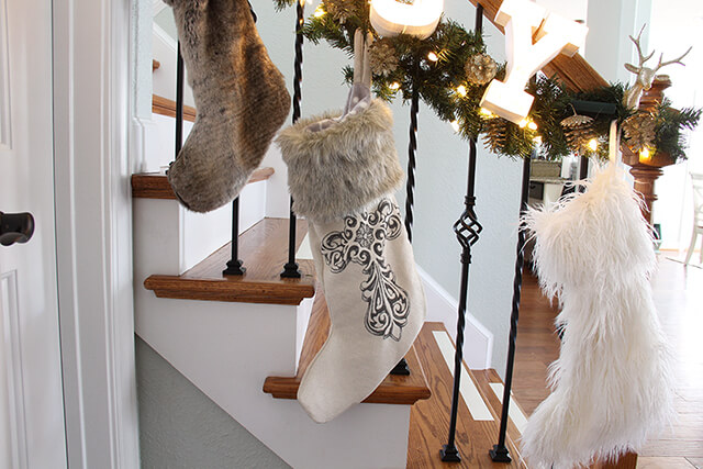 Fur Top Christmas Stocking