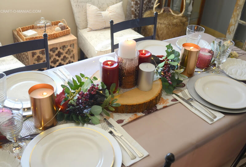 Thanksgiving Table Runner and Tablescape