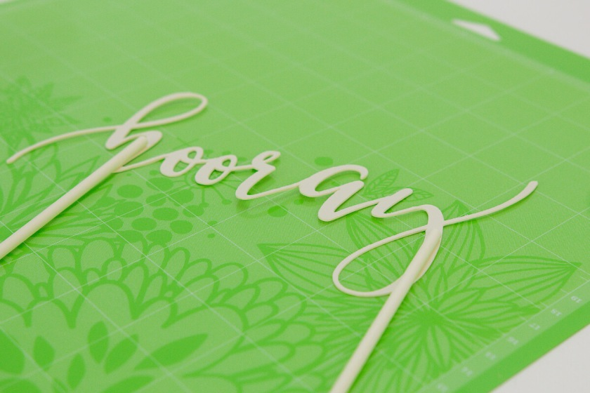 cricut gold partyware
