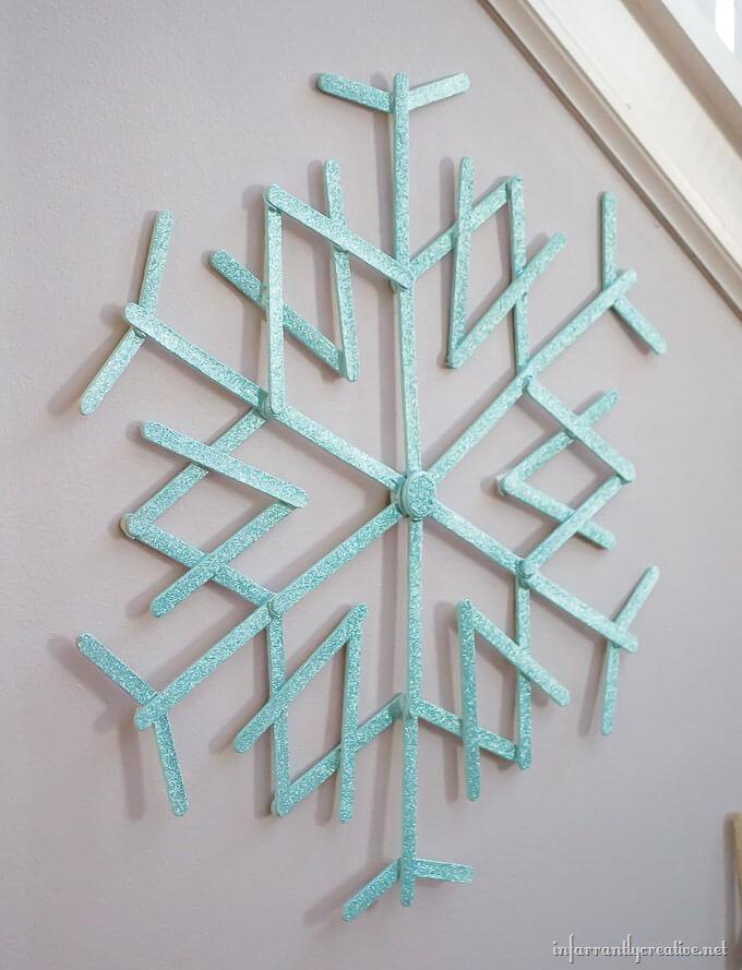 popsicle snowflake
