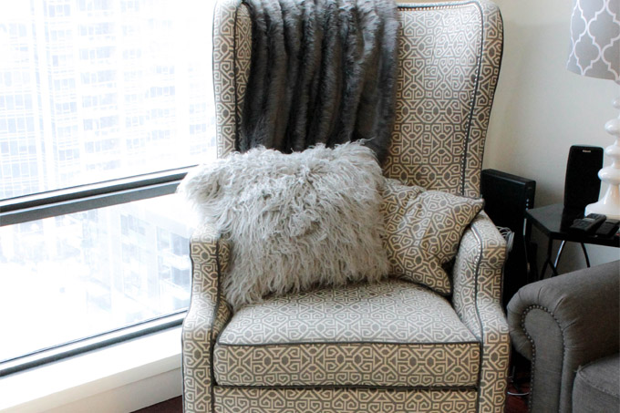 DIY Faux Fur Pillow and Rug